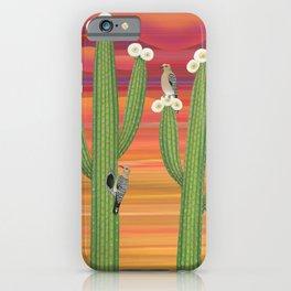 gila woodpeckers on saguaro cactus iPhone Case
