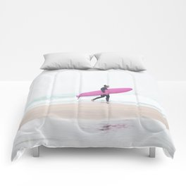 surfing beach vibes Comforters