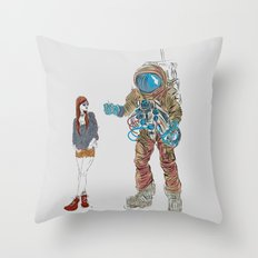 They Met Throw Pillow