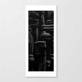 Black Textile Canvas Print