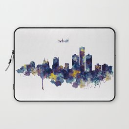 Detroit Skyline Silhouette Laptop Sleeve