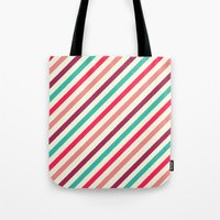 striped Tote Bags featuring Striped. by Tayler Willcox