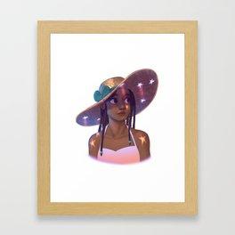Star Hat Framed Art Print