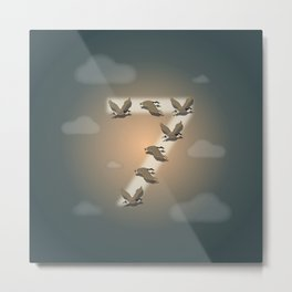 7 is for Seven flying geese. Metal Print