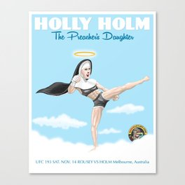 UFC Champion Holly Holm Art by Guy Smalley Canvas Print