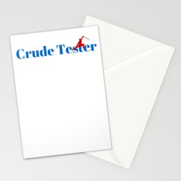 Crude Tester Ninja in Action Stationery Cards