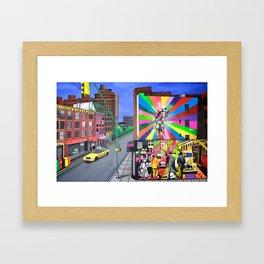 KOBRA VISITS CHELSEA Framed Art Print