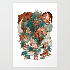 Dark Souls Gang Art Print