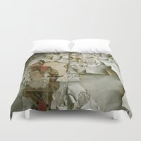 detroit Duvet Covers featuring Detroit Kitsch by Riot Jane