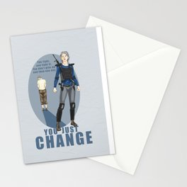 One day you just change - Carol Peletier Stationery Cards