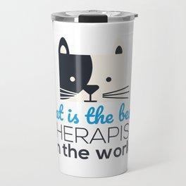 Our therapist cat Travel Mug