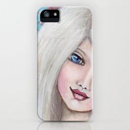 "Mixed Media Girl ""Madeleine"" iPhone Case"