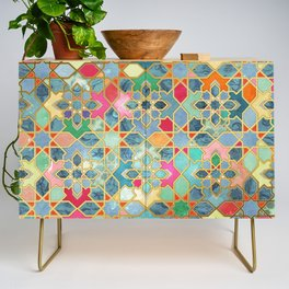 Gilt & Glory - Colorful Moroccan Mosaic Credenza