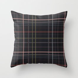 A very glommy plaid Throw Pillow