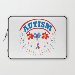 Autism Dad Autistic Awareness Day Asperger Gift Laptop Sleeve