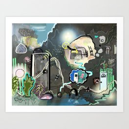 New Worlds Trail Map: The Land of Doors Art Print