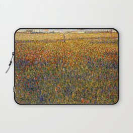 Georges Seurat Alfalfa Fields in Saint Denis Laptop Sleeve