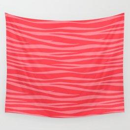Zebra Print - Coral Macaroon Wall Tapestry