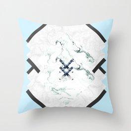Scandinavian Marble Throw Pillow