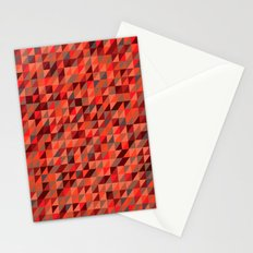 Quilted Reds / Retro Triangles Stationery Cards