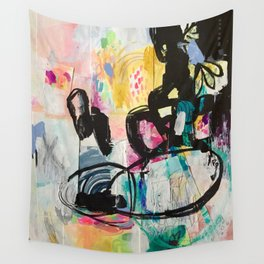 Sweet Layered Thoughts Mixed Media Contemporary Abstract Art Wall Tapestry