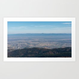 View at the mountains Art Print