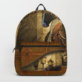 Awesome steampunk horse Backpack