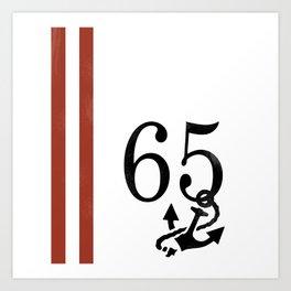 Nautical Number Print Art Print