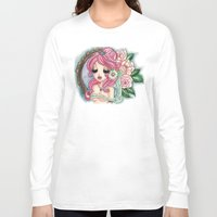 shabby chic Long Sleeve T-shirts featuring Shabby Chic Girl by Sollamy