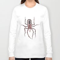 spider Long Sleeve T-shirts featuring Spider by coconuttowers