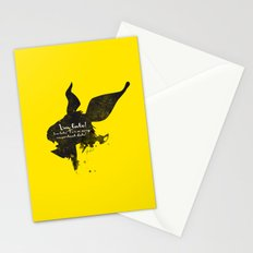 I'm late! – White Rabbit Silhouette Quote Stationery Cards