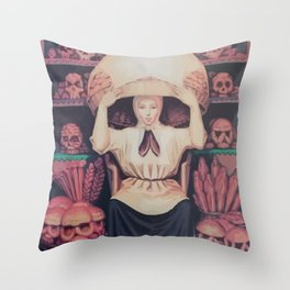 skull of a woman Throw Pillow