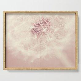 dandelion postcard Serving Tray