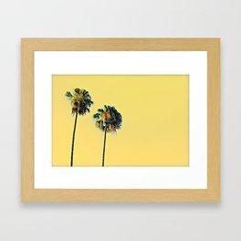 LA Palms Framed Art Print