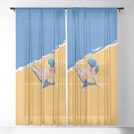 Beach 45 Sheer Curtain