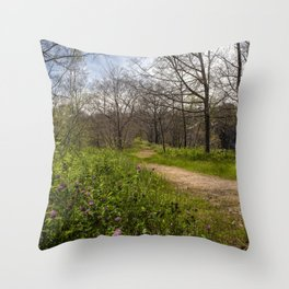 Troubled summer woods Throw Pillow