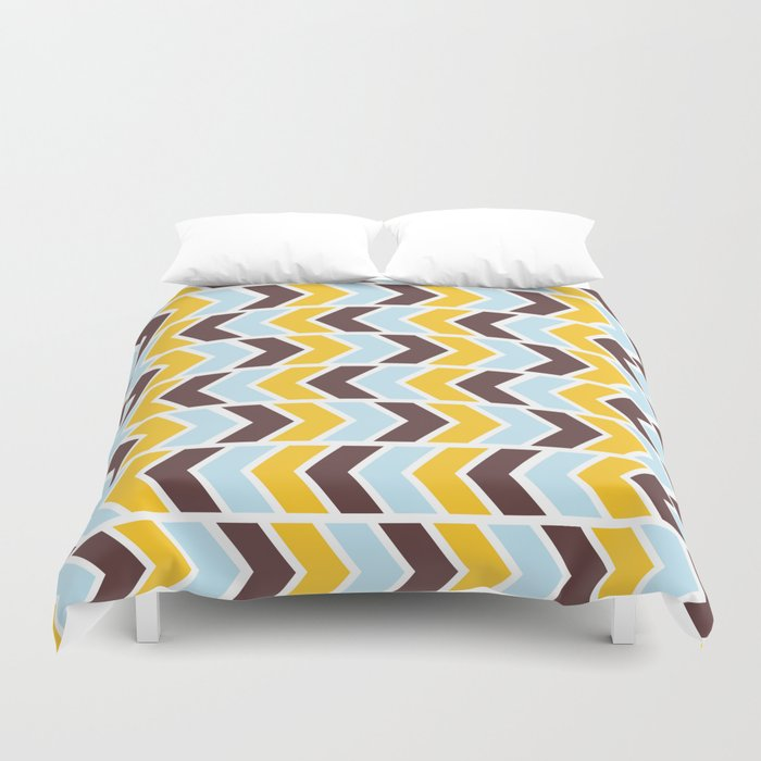 Vintage 70s Style Arrow Optical Illusion Duvet Cover by thisonashirt ...