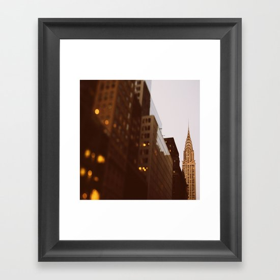 Bright Lights, Big City Framed Art Print