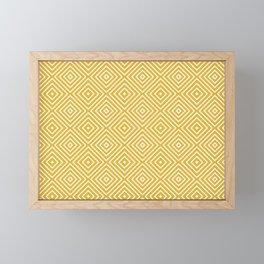 Pattern Abstrait Formes Jaune Moutarde Framed Mini Art Print