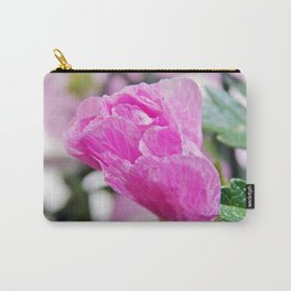 Pink Musk Mallow Rolled-up Carry-All Pouch