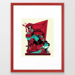 El King Black Bat Framed Art Print
