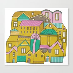 Pattern Project #2 / Happy Town Canvas Print