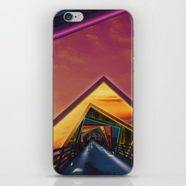 Bridge of a Thousand Colors, a Beautiful Rainbow Fractalscape iPhone Skin