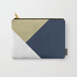 Gold meets Navy Blue & White Geometric #1 #minimal #decor #art #society6 Carry-All Pouch
