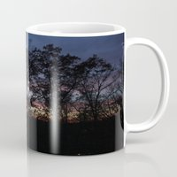 rileigh smirl Mugs featuring Rainbow Sunset by Rileigh Smirl
