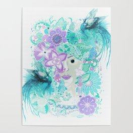 Madame Peacock Poster