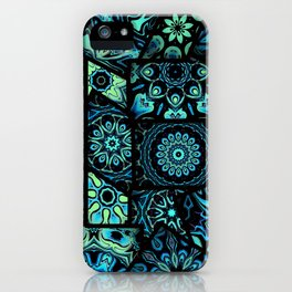 Patchwork in Blues iPhone Case