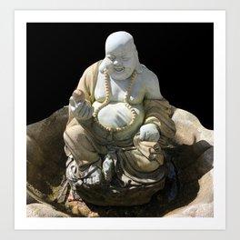 Happy Buddha #Buddha Art Print