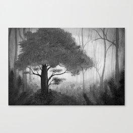 The Dark Forest (B&W) Canvas Print