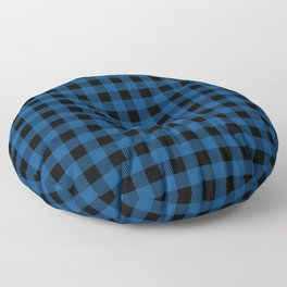 Plaid (blue/black) Floor Pillow